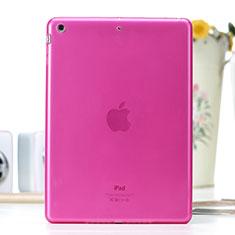 Ultra Slim Transparent TPU Soft Case for Apple iPad Air Hot Pink