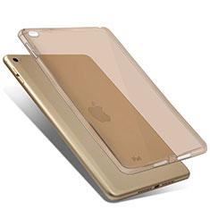 Ultra Slim Transparent TPU Soft Case for Apple iPad Mini 4 Gold