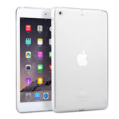 Ultra Slim Transparent TPU Soft Case for Apple iPad Mini White