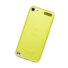 Ultra Slim Transparent TPU Soft Case for Apple iPod Touch 5 Yellow