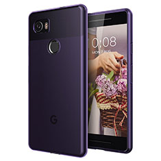 Ultra Slim Transparent TPU Soft Case for Google Pixel 2 XL Purple