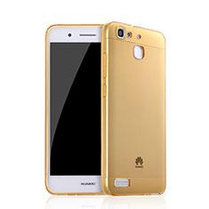 Ultra Slim Transparent TPU Soft Case for Huawei G8 Mini Gold