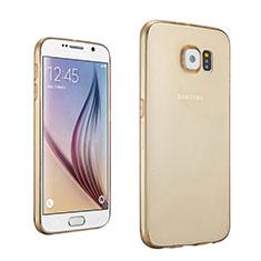 Ultra Slim Transparent TPU Soft Case for Samsung Galaxy S6 SM-G920 Gold