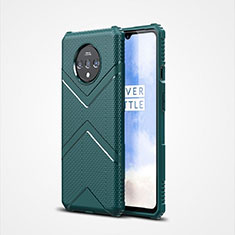 Ultra-thin Silicone Gel Soft Case 360 Degrees Cover C01 for OnePlus 7T Green