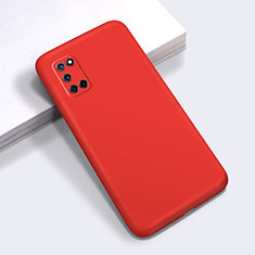 Ultra-thin Silicone Gel Soft Case 360 Degrees Cover C01 for Oppo A52 Red