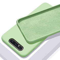 Ultra-thin Silicone Gel Soft Case 360 Degrees Cover C01 for Samsung Galaxy A90 4G Green