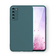 Ultra-thin Silicone Gel Soft Case 360 Degrees Cover C02 for Huawei Honor Play4 5G Midnight Green