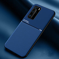 Ultra-thin Silicone Gel Soft Case 360 Degrees Cover C02 for Huawei P40 Pro Blue