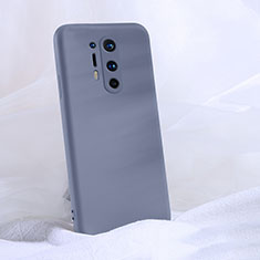 Ultra-thin Silicone Gel Soft Case 360 Degrees Cover C02 for OnePlus 8 Pro Gray
