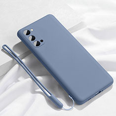 Ultra-thin Silicone Gel Soft Case 360 Degrees Cover C02 for Oppo Reno4 5G Gray