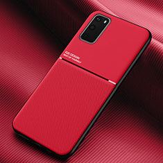 Ultra-thin Silicone Gel Soft Case 360 Degrees Cover C02 for Samsung Galaxy S20 5G Red