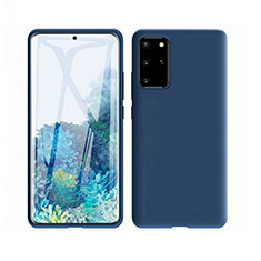 Ultra-thin Silicone Gel Soft Case 360 Degrees Cover C02 for Samsung Galaxy S20 Plus 5G Blue
