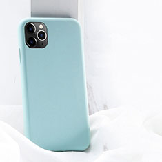 Ultra-thin Silicone Gel Soft Case 360 Degrees Cover C03 for Apple iPhone 11 Pro Max Cyan