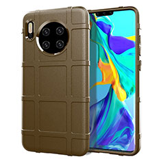 Ultra-thin Silicone Gel Soft Case 360 Degrees Cover C05 for Huawei Mate 30 Brown