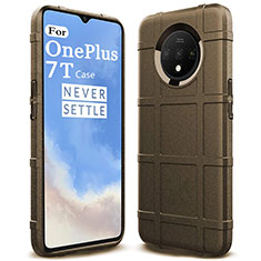 Ultra-thin Silicone Gel Soft Case 360 Degrees Cover C05 for OnePlus 7T Brown