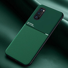 Ultra-thin Silicone Gel Soft Case 360 Degrees Cover C05 for Oppo Reno4 5G Green
