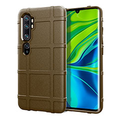 Ultra-thin Silicone Gel Soft Case 360 Degrees Cover C05 for Xiaomi Mi Note 10 Brown