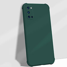 Ultra-thin Silicone Gel Soft Case 360 Degrees Cover C06 for Oppo Reno4 5G Green
