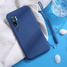 Ultra-thin Silicone Gel Soft Case 360 Degrees Cover C06 for Xiaomi Mi Note 10 Blue