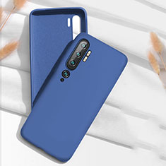 Ultra-thin Silicone Gel Soft Case 360 Degrees Cover C07 for Xiaomi Mi Note 10 Blue