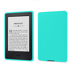 Ultra-thin Silicone Gel Soft Case 360 Degrees Cover for Amazon Kindle 6 inch Cyan