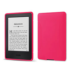 Ultra-thin Silicone Gel Soft Case 360 Degrees Cover for Amazon Kindle 6 inch Hot Pink