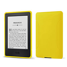 Ultra-thin Silicone Gel Soft Case 360 Degrees Cover for Amazon Kindle 6 inch Yellow
