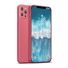 Ultra-thin Silicone Gel Soft Case 360 Degrees Cover for Apple iPhone 12 Pro Max Red