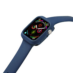 Ultra-thin Silicone Gel Soft Case 360 Degrees Cover for Apple iWatch 5 44mm Blue