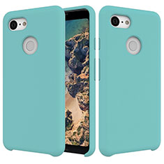 Ultra-thin Silicone Gel Soft Case 360 Degrees Cover for Google Pixel 3 Cyan