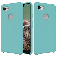 Ultra-thin Silicone Gel Soft Case 360 Degrees Cover for Google Pixel 3 XL Cyan