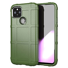 Ultra-thin Silicone Gel Soft Case 360 Degrees Cover for Google Pixel 5 Army green
