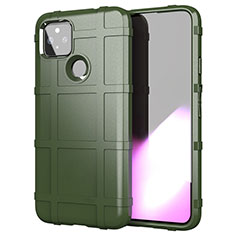 Ultra-thin Silicone Gel Soft Case 360 Degrees Cover for Google Pixel 5 XL 5G Army green