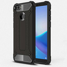 Ultra-thin Silicone Gel Soft Case 360 Degrees Cover for Huawei Enjoy 8 Plus Black