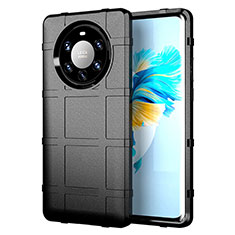 Ultra-thin Silicone Gel Soft Case 360 Degrees Cover for Huawei Mate 40 Pro+ Plus Black