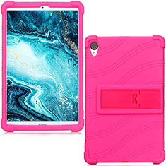 Ultra-thin Silicone Gel Soft Case 360 Degrees Cover for Huawei MediaPad M6 8.4 Hot Pink