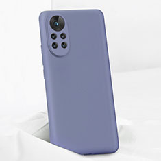 Ultra-thin Silicone Gel Soft Case 360 Degrees Cover for Huawei Nova 8 Pro 5G Lavender Gray