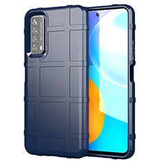 Ultra-thin Silicone Gel Soft Case 360 Degrees Cover for Huawei P Smart (2021) Blue