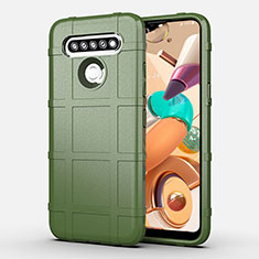Ultra-thin Silicone Gel Soft Case 360 Degrees Cover for LG K41S Green