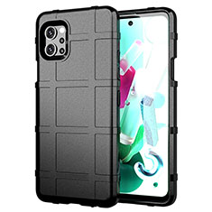 Ultra-thin Silicone Gel Soft Case 360 Degrees Cover for LG Q92 5G Black