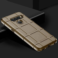 Ultra-thin Silicone Gel Soft Case 360 Degrees Cover for LG V50 ThinQ 5G Brown