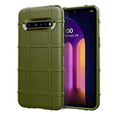Ultra-thin Silicone Gel Soft Case 360 Degrees Cover for LG V60 ThinQ 5G Green