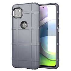 Ultra-thin Silicone Gel Soft Case 360 Degrees Cover for Motorola Moto G 5G Gray