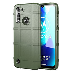 Ultra-thin Silicone Gel Soft Case 360 Degrees Cover for Motorola Moto G8 Power Lite Green