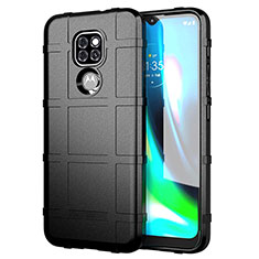 Ultra-thin Silicone Gel Soft Case 360 Degrees Cover for Motorola Moto G9 Black