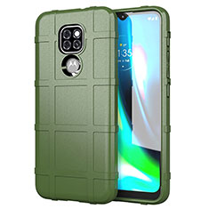 Ultra-thin Silicone Gel Soft Case 360 Degrees Cover for Motorola Moto G9 Play Green