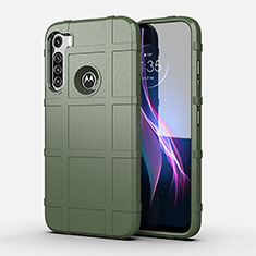Ultra-thin Silicone Gel Soft Case 360 Degrees Cover for Motorola Moto One Fusion Plus Green