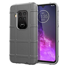 Ultra-thin Silicone Gel Soft Case 360 Degrees Cover for Motorola Moto One Zoom Gray