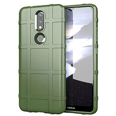 Ultra-thin Silicone Gel Soft Case 360 Degrees Cover for Nokia 2.4 Army green