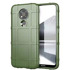 Ultra-thin Silicone Gel Soft Case 360 Degrees Cover for Nokia 3.4 Army green